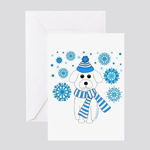 Holiday Bichon Frise Greeting Card