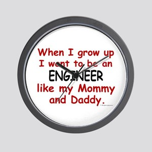 Engineer (Like Mommy & Daddy) Wall Clock