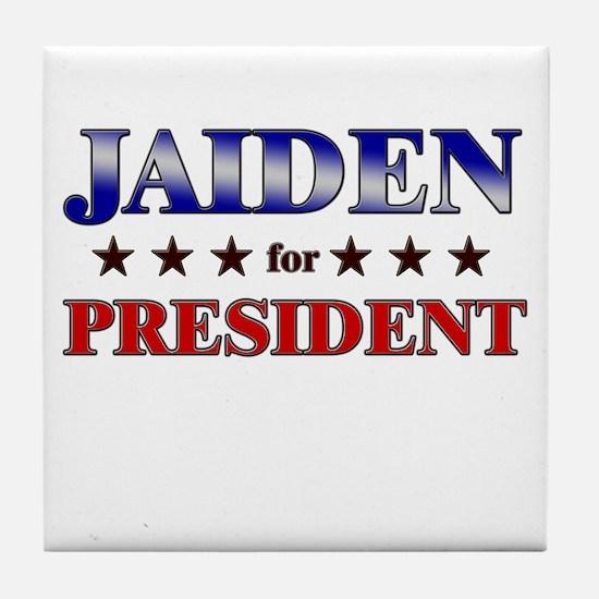 JAIDEN for president Tile Coaster