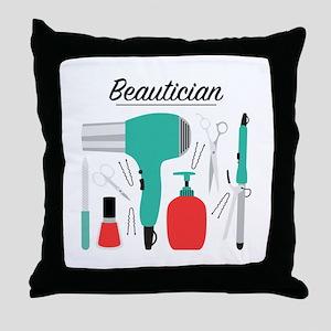 Beautician Throw Pillow