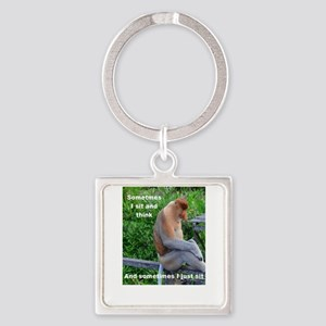 Proboscis Monkey Thinking or Not Keychains