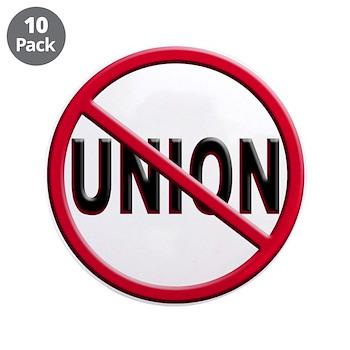 Anti-Union Large Button (10 pack)