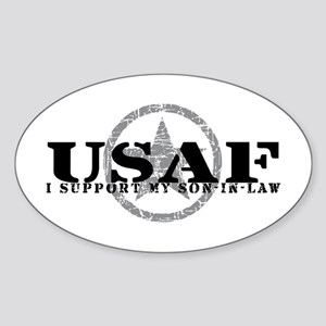 I Support Son-in-Law - Air Force Oval Sticker