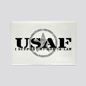 I Support Son-in-Law - Air Force Rectangle Magnet