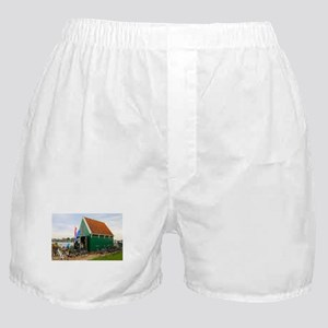 Bicycles, Dutch windmill village, Hol Boxer Shorts