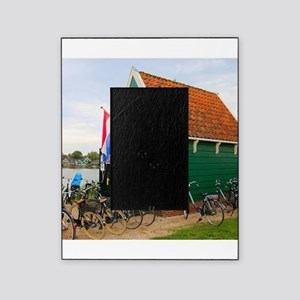 Bicycles, Dutch windmill village, Ho Picture Frame