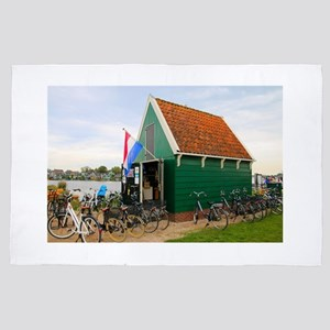 Bicycles, Dutch windmill village, Holl 4' x 6' Rug