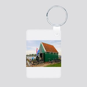 Bicycles, Dutch windmill village, Hollan Keychains