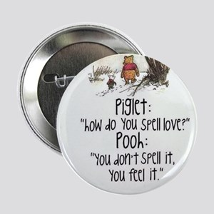 """Piglet&Pooh 2.25"""" Button (10 pack)"""