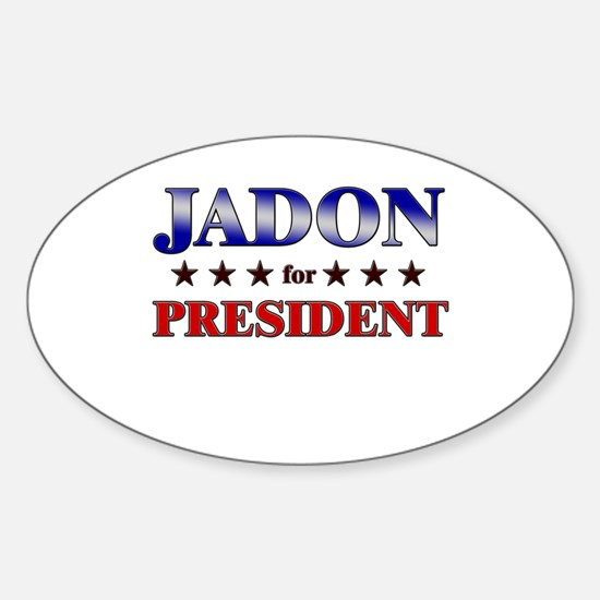 JADON for president Oval Decal