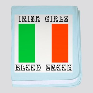 IRISH GIRLS BLEED GREEN baby blanket