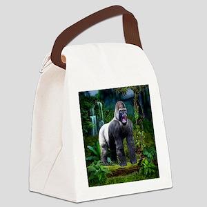 Silverback Gorilla Canvas Lunch Bag