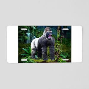 Silverback Gorilla Aluminum License Plate