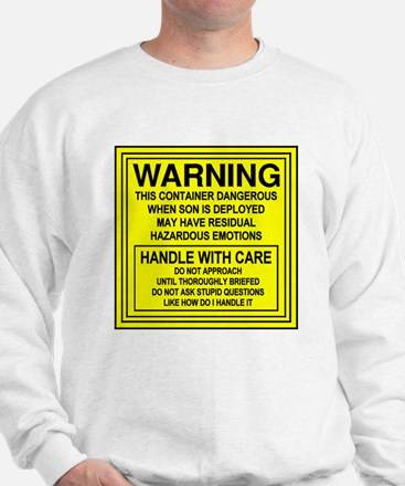 Hazardous Military Mom Sweatshirt