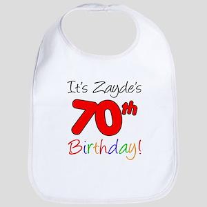 It's Zayde 70th Birthday Bib