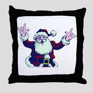 ILY ASL Santa Throw Pillow