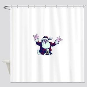 ILY ASL Santa Shower Curtain