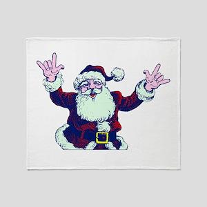 ILY ASL Santa Throw Blanket