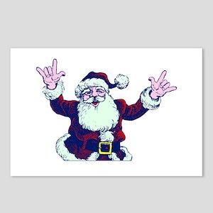 ILY ASL Santa Postcards (Package of 8)