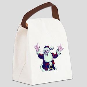 ILY ASL Santa Canvas Lunch Bag
