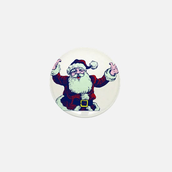 ILY ASL Santa Mini Button