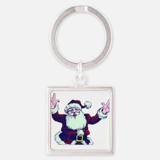 ILY ASL Santa Keychains