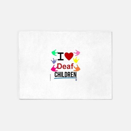 I ? Deaf CHILDREN 5'x7'Area Rug