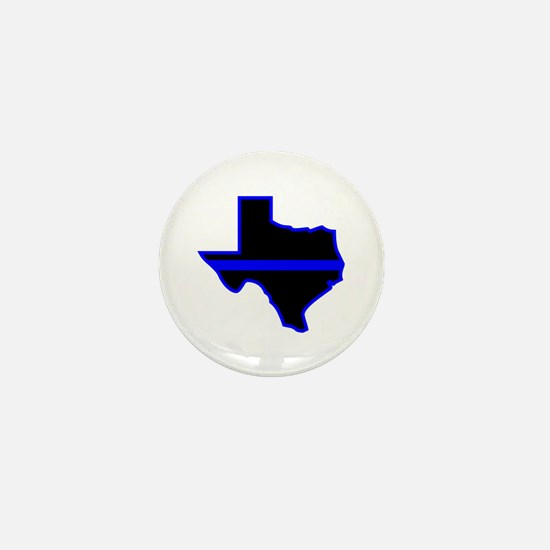 Texas Blue Lives Matter Mini Button
