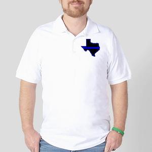 Texas Blue Lives Matter Golf Shirt