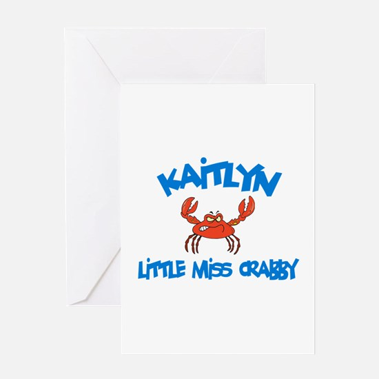 Kaitlyn - Little Miss Crabby Greeting Card