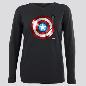 Captain America Vinyl Sh Plus Size Long Sleeve Tee