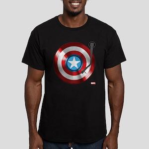 Captain America Vinyl Men's Fitted T-Shirt (dark)
