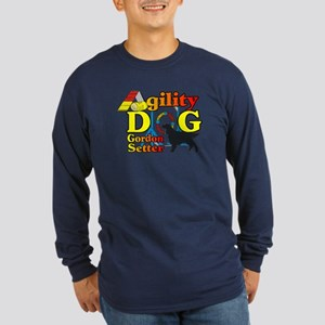 Gordon Setter Agility Long Sleeve Dark T-Shirt