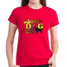 Gordon Setter Agility Women's Dark T-Shirt