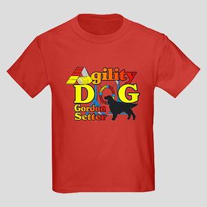 Gordon Setter Agility Kids Dark T-Shirt