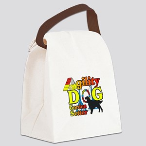 Gordon Setter Agility Canvas Lunch Bag