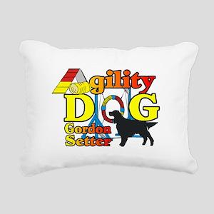 Gordon Setter Agility Rectangular Canvas Pillow