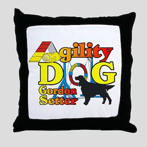 Gordon Setter Agility Throw Pillow