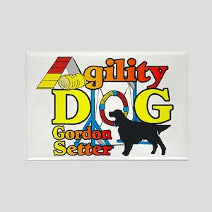 Gordon Setter Agility Rectangle Magnet (10 pack)