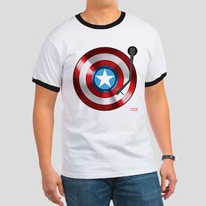 Captain America Vinyl Shield Ringer T