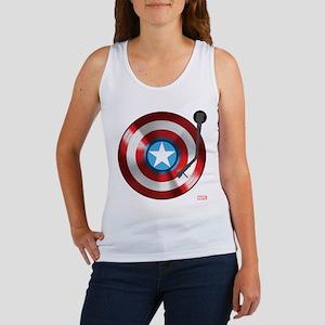 Captain America Vinyl Shield Women's Tank Top