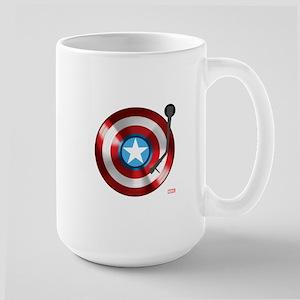 Captain America Vinyl Shield Large Mug
