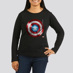 Captain America V Women's Long Sleeve Dark T-Shirt
