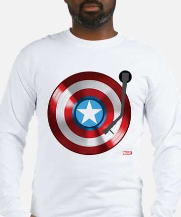 Captain America Vinyl Shield Long Sleeve T-Shirt