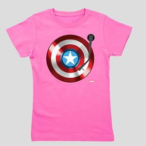 Captain America Vinyl Shield Girl's Tee