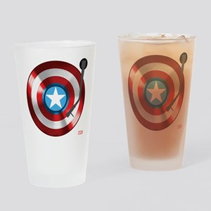 Captain America Vinyl Shield Drinking Glass