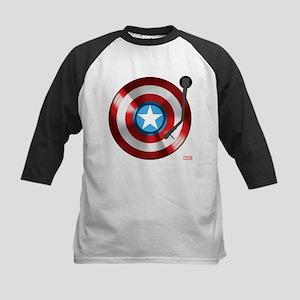 Captain America Vinyl Shield Kids Baseball Jersey