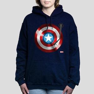 Captain America Vinyl Sh Women's Hooded Sweatshirt