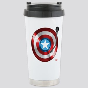 Captain America Vinyl S Stainless Steel Travel Mug