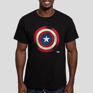 Captain America Comic Men's Fitted T-Shirt (dark)